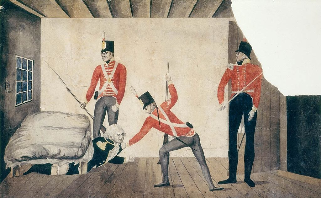 Governor Bligh being dragged from under his bed by members of the NSW Corps