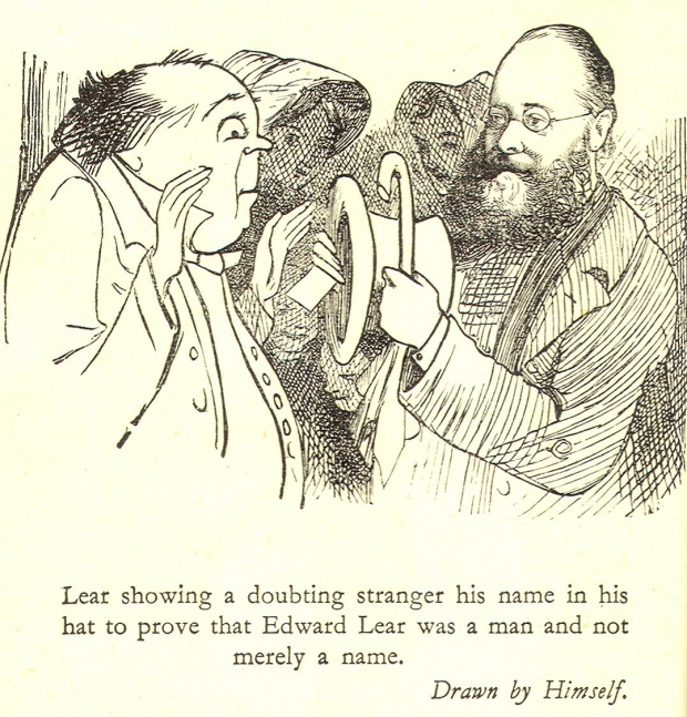 Cartoon of Edward Lear