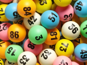Colourful lottery balls