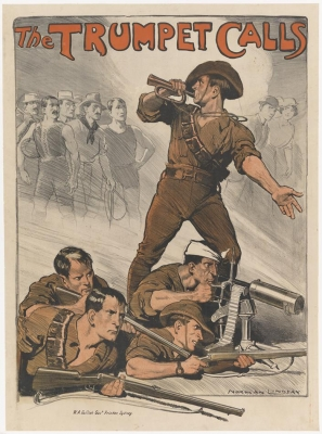 WW1 recruitment poster by Norman Lindsay
