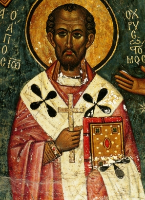 Fresco of St John Chrysostom